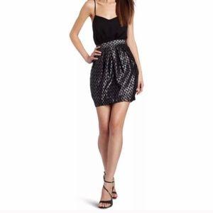 BCBGENERATION Black and Silver Evening Dress 6